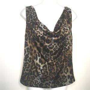 Clara SunWoo leopard print cowl neck top